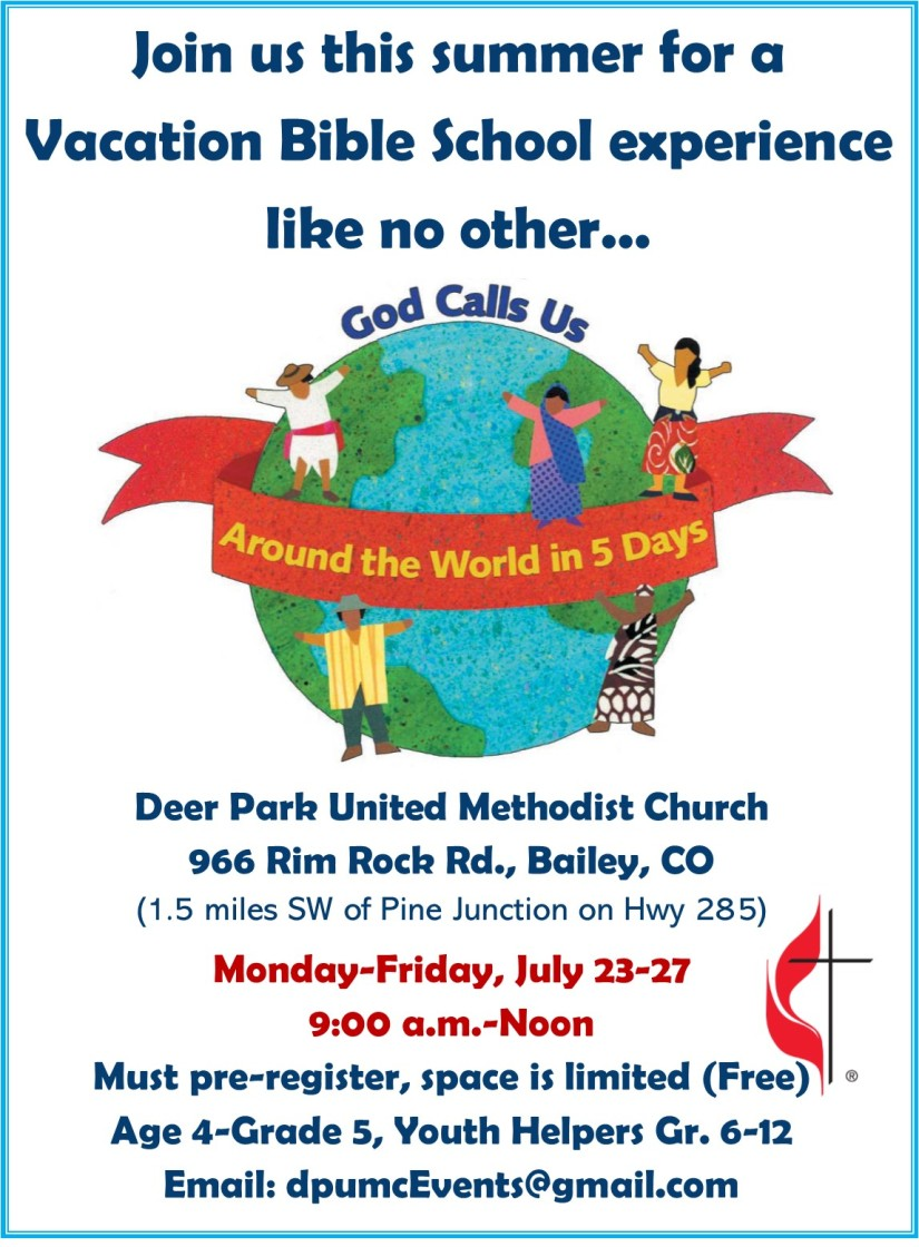 God Calls Us VBS Poster Deer Park UMC 2018