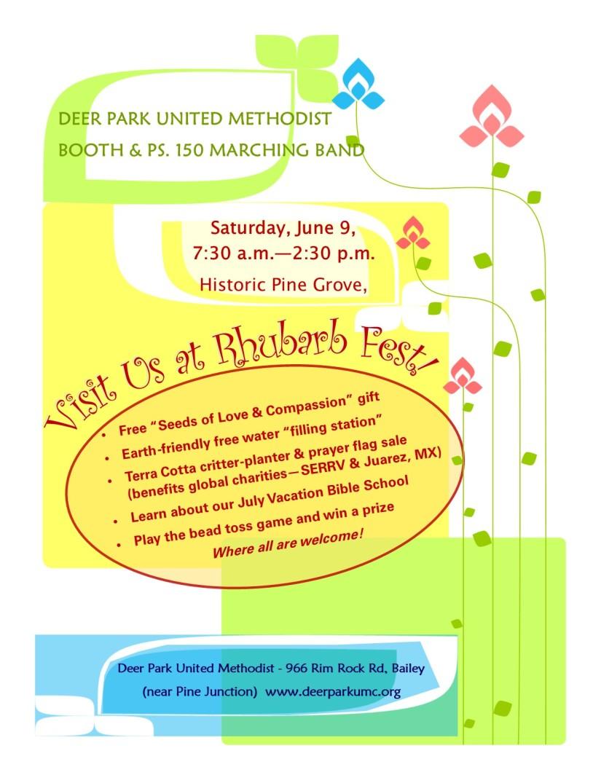 Deer Park UMC Rhubarb Fest Flyer 2018